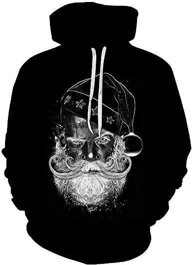 Sudaderas con Capucha Original Navidad 3D Impresas Moda Punk Sudadera para Hombre de Manga Larga Invierno otoño Casual Abrigo Camisas Blusa Top chándales para Hombre Chaqueta Deportivos Ropa vpass: Amazon.es: Ropa y
