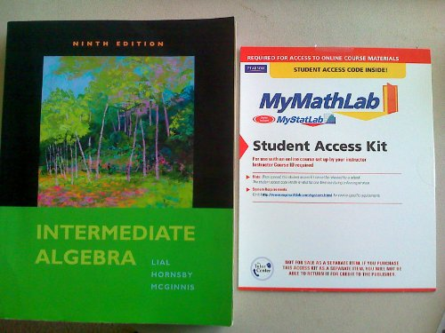 Intermediate Algebra plus MyMathLab Student Access Kit (9th Edition) by Brand: Pearson