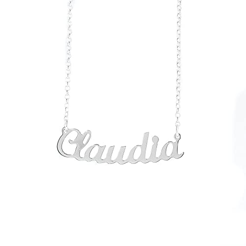 652baff5a5 Collar con nombre Claudia de plata 925 rodeado antialérgico. Hecho en  Italia. Modelo G10: Amazon.es: Joyería