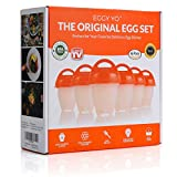 EGGY YO Silicone Hard Boiled Egg Cookers - 6 Egg Cooker Set with Holder and Timer - Egg Boiler No Shell