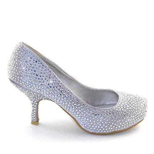 Essex Glam - Zapatos de Vestir Mujer gris - Gris SATIN