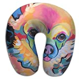 RONG FA Animal Chihuahua Oil Paiting 100% Pure Memory Foam Neck Pillow,Comfortable U Shaped Cushion Neck Pillow With Head And Neck Supports For Airplanes Travel,Car,Driving