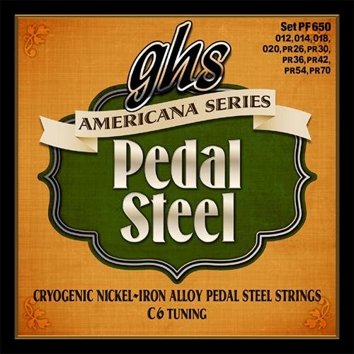 GHS PF650 AMERICANA PEDAL STEEL C6 TUNING STRINGS