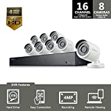 SNK-D5081 - Samsung 16 Channel 4 Megapixel 4MP Super HD NVR POE 3TB HDD Security Camera System