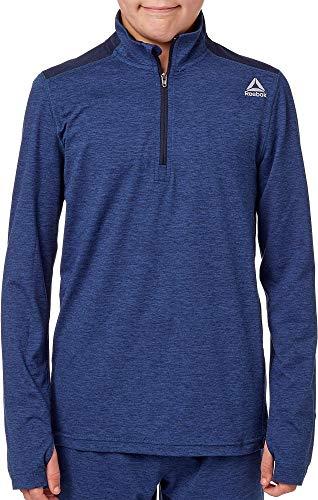 Reebok Boy's 24/7 Jersey Half Zip Jacket (Bunker Blue/Univ Navy Dd, - Reebok Kids Jersey