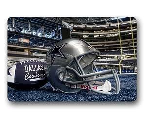 Dallas Cowboys Custom Outdoor Indoor Doormat Personalized Design Machine-Wahable Neoprene Rubber Doormat 23.6x15.7 Inch