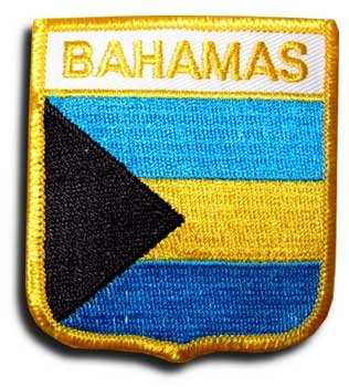 Bahamas - Country Shield Patch (Country Flag Bahamas)