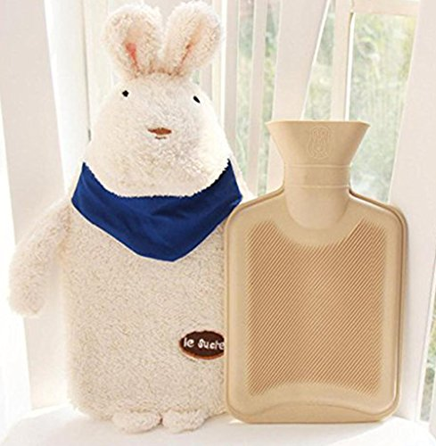 Hot Water Bottle Rabbit ~ Easter Bunny Baby Kids Hand Foot Warmer Hot Water Bag with Rabbit Plush Cover ~ by Cafolo (Walmart Easter Bunny)