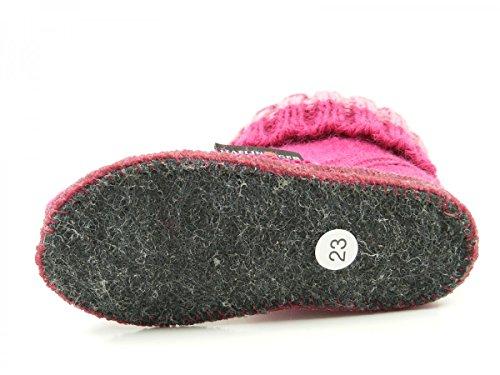 Haflinger Paul, Zapatillas de Casa, Infantil Pink