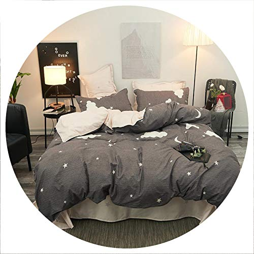 Green Plant Family Bedding Set Bedclothes Flat Bed Sheet Bedding Set Soft Comfortable Duvet Cover Set Twin Full Queen King Size,13,2pcs Pillowcase,Flat Bed Sheet