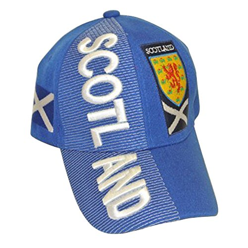 - Baseball Caps Hats with Five 3D Embroideries – Countries of Europe (1-Pack, Country: Scotland)