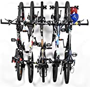 Bike Storage Rack, Sunix Bike Storage Hanger for Home and Garage Wall Mount Hold up 5 Bicycles, 2 Pack
