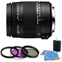Sigma 18-250mm F3.5-6.3 DC OS HSM Macro Lens for Nikon AF with Optical Stabilizer includes Bonus Digital Concepts UV, Polarizer & FLD Deluxe Filter Kit and More