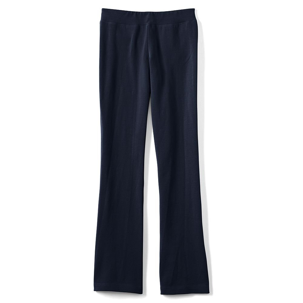 Lands' End Girls Yoga Boot Cut Pants, L, Classic Navy