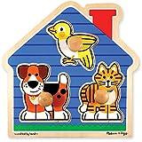 Melissa & Doug 2055 Pet Animals Knob Wooden Puzzle