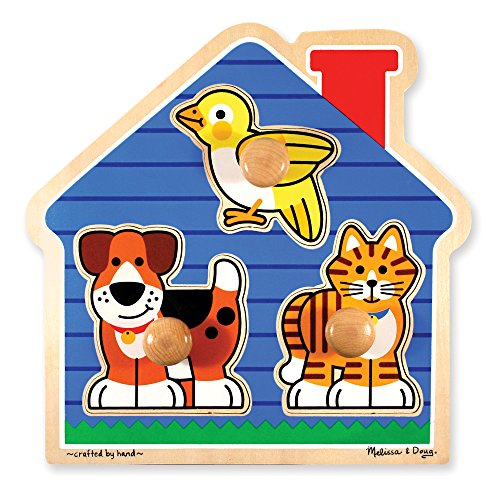 Melissa & Doug Pets Jumbo (Kids Puzzles With Knobs)