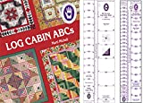 Marti Michell Log Cabin Quilting Rulers and Quilting Book Bundle, 3 Items