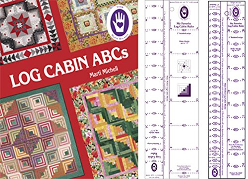 Marti Michell Log Cabin Quilting Rulers and Quilting Book Bundle, 3 Items by Marti Michell
