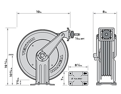 TEKTON 50-Foot by 3/8-Inch I.D. Dual Arm Auto Rewind Air Hose Reel (250 PSI) | 46875 by TEKTON (Image #13)