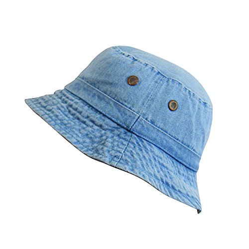 denim jean cotton bucket hat packable summer