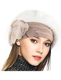 Women's 100% Wool Bucket Hat Felt Cloche Bow Dress Winter Hats