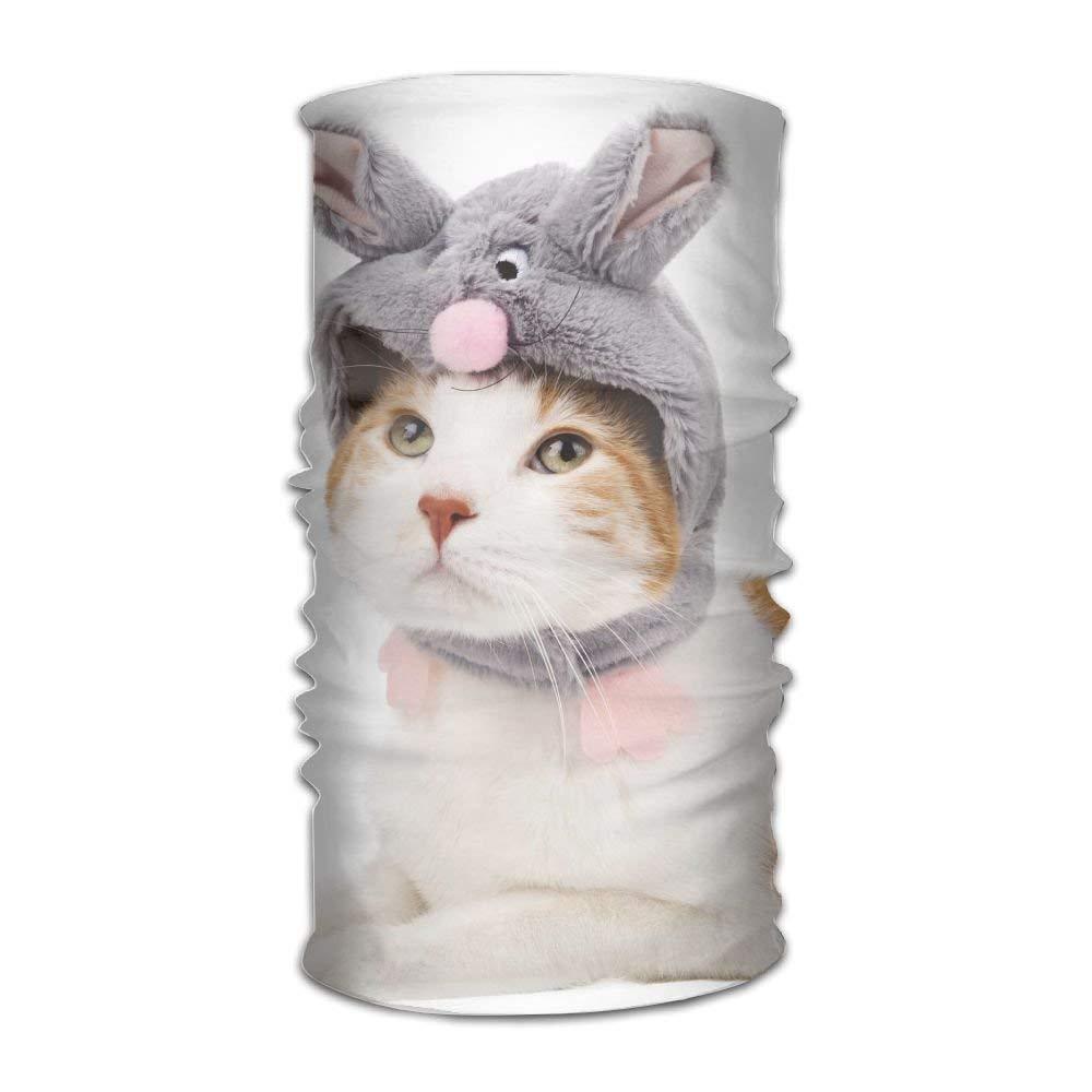 Multifunctional Headwear Cats Animals Head Wrap Elastic Turban Sport Headband Outdoor Sweatband
