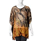Black and Yellow Leopard Print Pattern 100% Polyester Summer Swimsuit Cover-ups Poncho 35.4x27.5