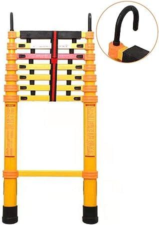 Escalera Telescópica- Escalera Telescópica de Fibra de Vidrio 13 Pies/ 4 M, Pasos Multipropósito con Ganchos Desmontables para Energía/Ático, Soporte 150 Kg, Naranja (Size : 13 ft (4 m)): Amazon.es: Hogar