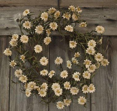 Teastain Daisy Wreath Country Primitive Floral Décor