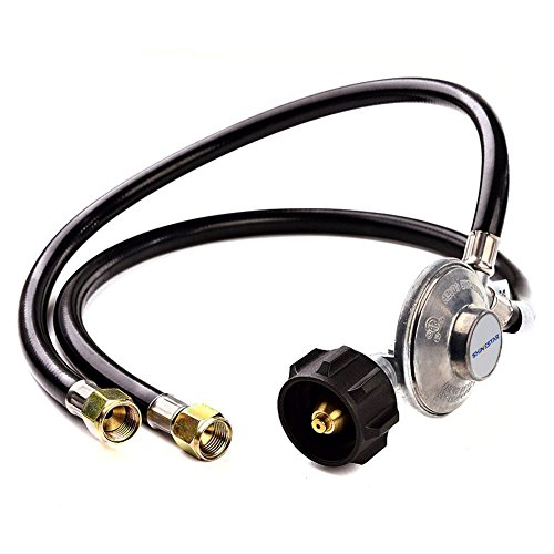 (SHINESTAR Y-Splitter Two Hose 24inch Low Pressure Propane Regulator Kit for QCC1/Type1 Tank and Most LP/LPG Gas Grill Propane Tank and Propane Appliance - CSA Certified (2 Feet))