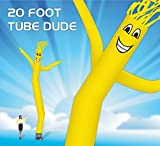 20 Foot Fly Guy – Inflatable Air Dancer Tube Man – Sky Puppet Dancing Balloon. Fits all 18 inch fans. Yellow Body with Yellow Arms - Fabric Only