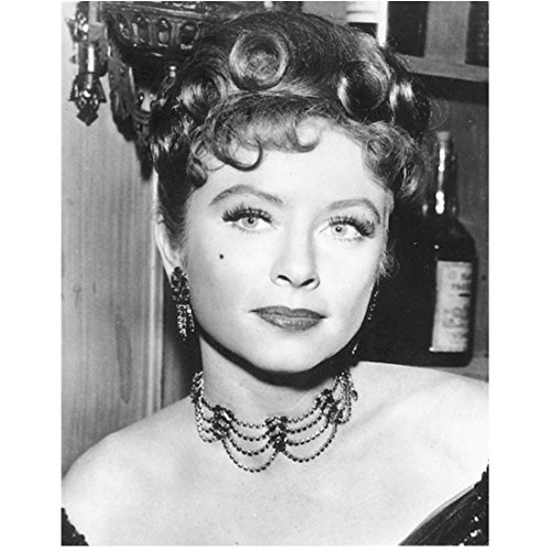 Amanda Blake 8 inch x10 inch Photo Gunsmoke B&W Pic Beautiful as Miss Kitty at the Saloon (Kitty From Gunsmoke)