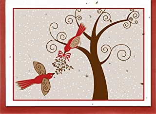 product image for Grow A Note® Holiday Red Bird Card 4-Pack