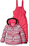 Pink Platinum Little Girls' Fair Isle Print Snowsuit, White, 4