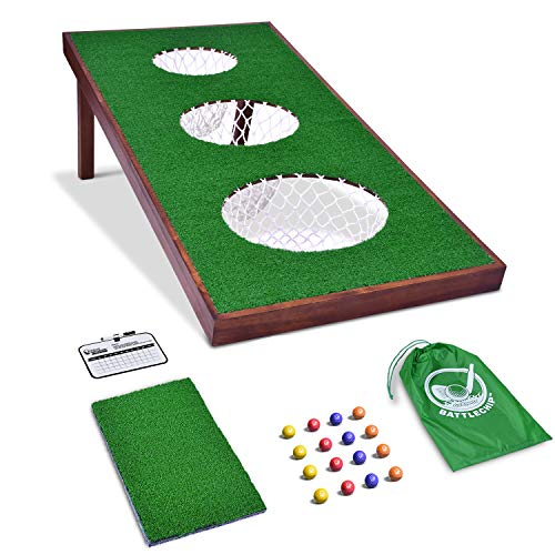GoSports BattleChip PRO Golf Game Includes 4 x 2 Target, 16 Foam Balls, Hitting Mat, and Scorecard