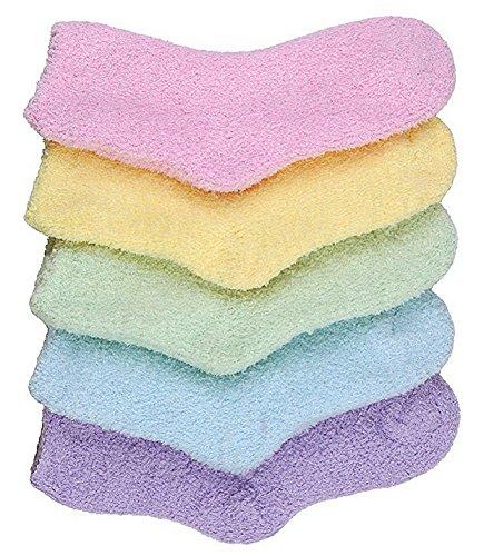 Bong Buy Womens Soft Cute Funny Animal Designe Microfiber Slipper Socks Cozy Fuzzy Winter Warm Socks(5,Siold)