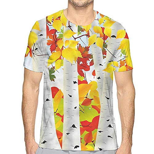 t Shirt Printer Fall,Autumn Scene with Leaves Junior t Shirt XXL