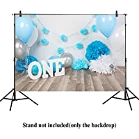 Allenjoy 7x5ft photography backdrops baby boys 1st Birthday blue balloons flowers party banner baby shower photo studio booth background photocall