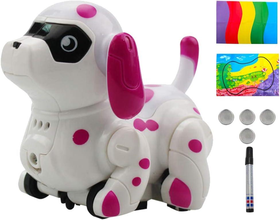 Newmere Robot Chien Inductif Suivre Ligne Trac/ée Robot Chien Creative Jouet Inductif