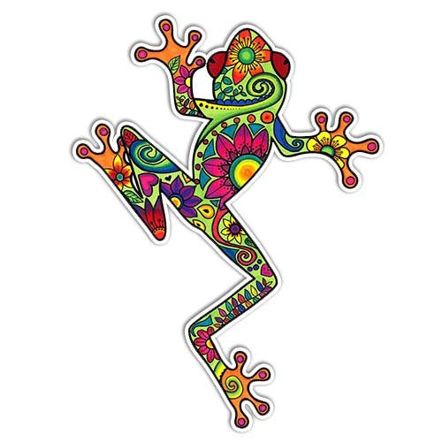 Tree Frog Sticker Colorful Decal by Megan J Designs - Laptop Window Car Vinyl Sticker