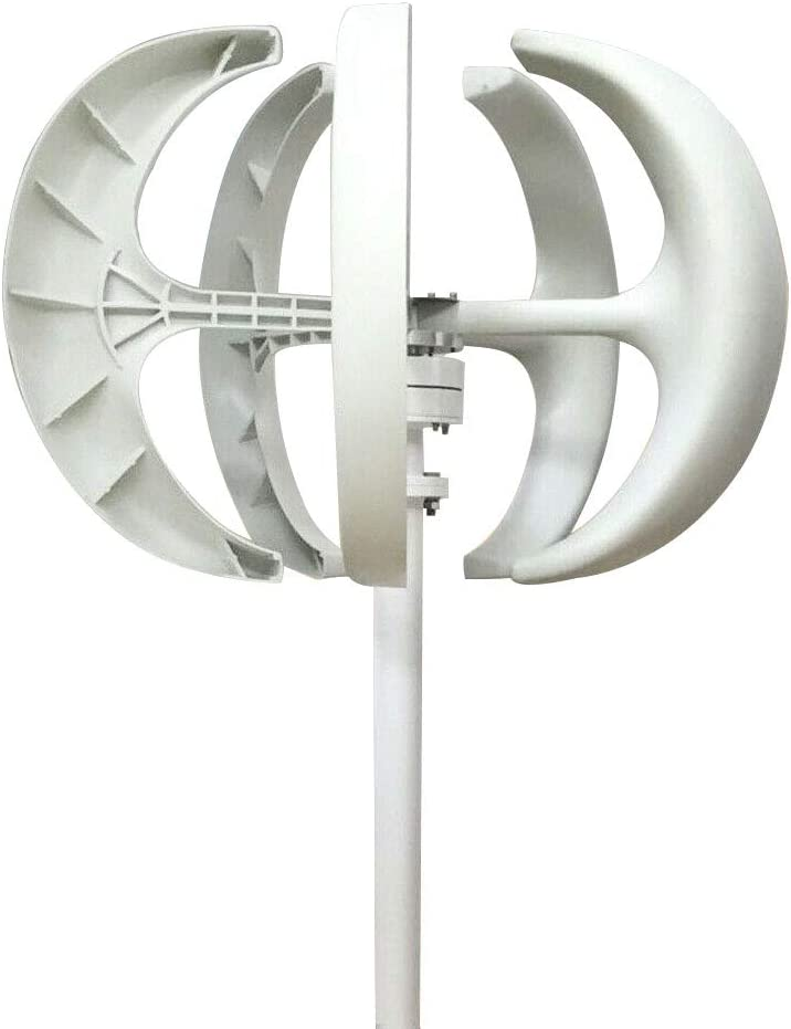 LOYALHEARTDY Wind Turbine Generator, 24V 600W 5 Blades Vertical Axis Wind Turbine Kit 2m/s Low Wind Speed Starting Wind Power Generator with Controller for Home, Camping & Boat Use - White (24V)