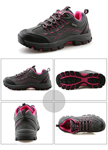 ANBOVER Unisex Waterproof Breathable Hiking Boot Cross-Country Shoes Rose 0csxFAPxA