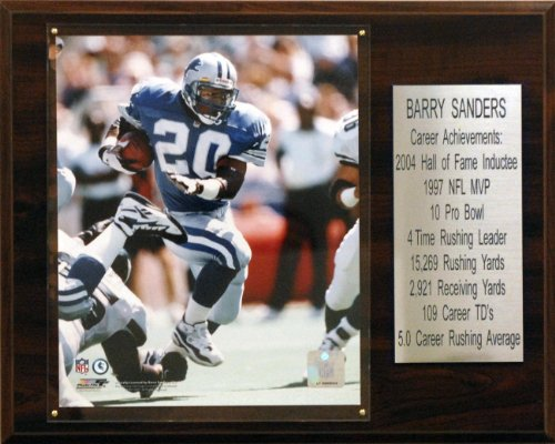 Barry Sanders Wall - NFL Barry Sanders Detroit Lions Career Stat Plaque