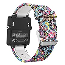 Garmin Vivoactive Watch Band, MoKo Soft Silicone Replacement Fitness Bands Wristbands with Metal Clasps for Garmin Vivoactive / Vivoactive Acetate Sports GPS Smart Watch - Colorful Jellyfish