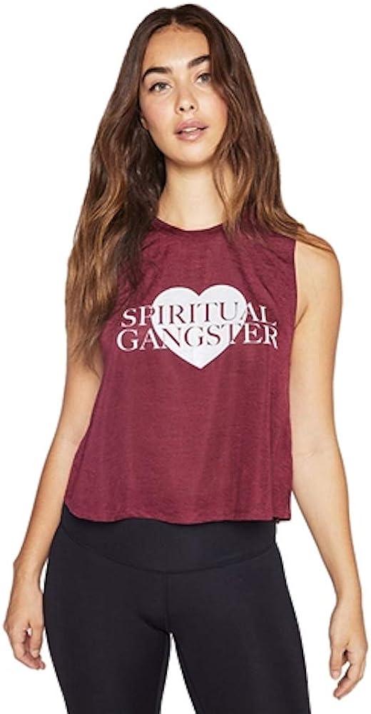 PINK new tee *NEW* Spiritual Gangster SUN CHILD Women/'s muscle Tank Top