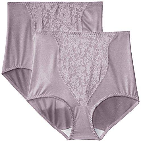 Bali Women's Shapewear Double Support Coordinate Brief 2-Pack, Warm Steel/Warm Steel, Large