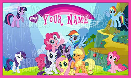 My Little Pony Birthday Banner Personalized/Custom (Pony Personalized Banner)