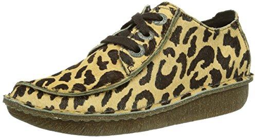 Mehrfarbig Funny Clarks Stringate Donna Scarpe Print leopard Derby Dream xqU7YqHB