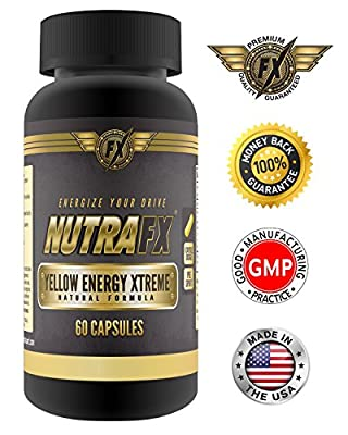 Nutrafx Yellow Energy Xtreme- Party Dance Pills | 260 Mg Total Caffeine | Safe And Green Natural Ingredients *** Green Tea Extract *** Green Coffee Extract *** Caffeine Anhydrous ***NADH | 60 Capsules