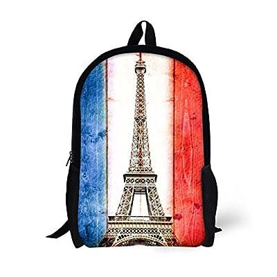 ThiKin Eiffel Tower Children Backpack Cute Kids School Book Bags